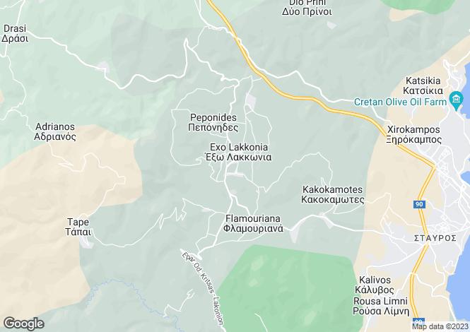 Map for Crete, Lasithi, Laconia