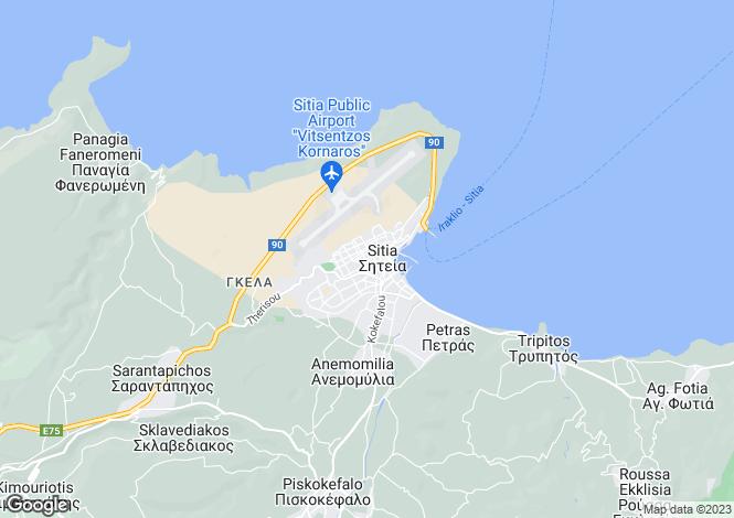 Map for Siteia, Lasithi, Crete