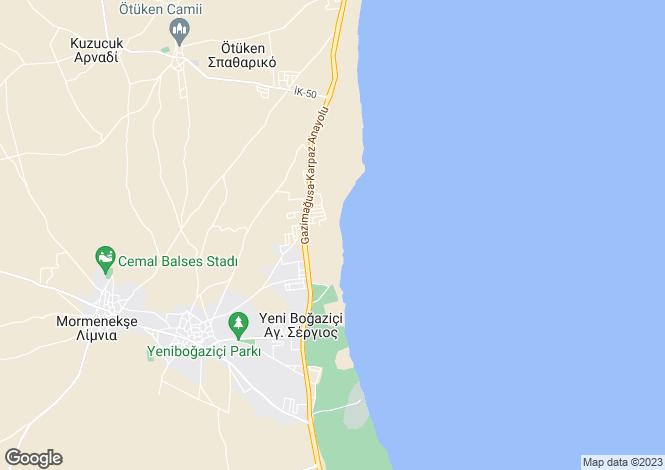 Map for Yenibogazici, Famagusta