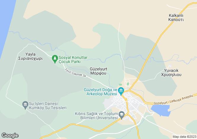 Map for Guzelyurt, Girne