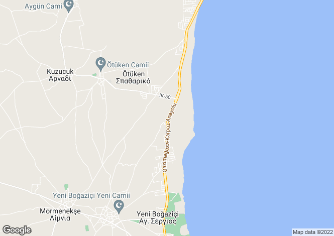 Map for Famagusta, Iskele