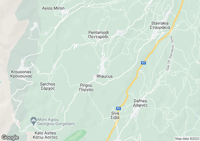 Map for Crete, Heraklion, Agios Myron