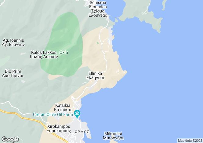 Map for Crete, Lasithi, Áyios Nikólaos