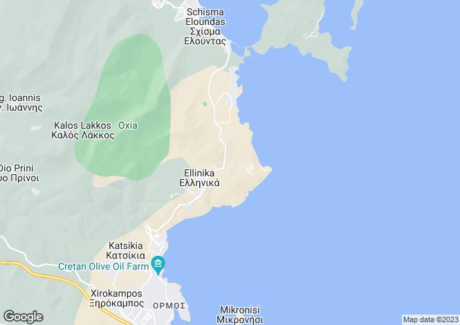 Map for Crete, Lasithi, Elounda