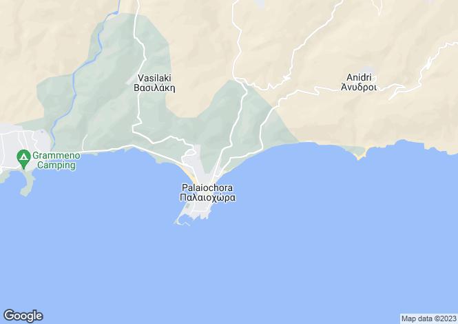 Map for Palaiochora, Chania, Crete