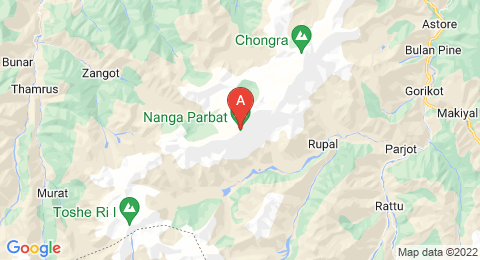 map of Nanga Parbat (Pakistan)