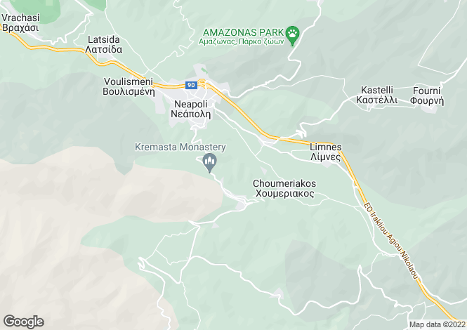 Map for Neapoli, Lasithi, Crete