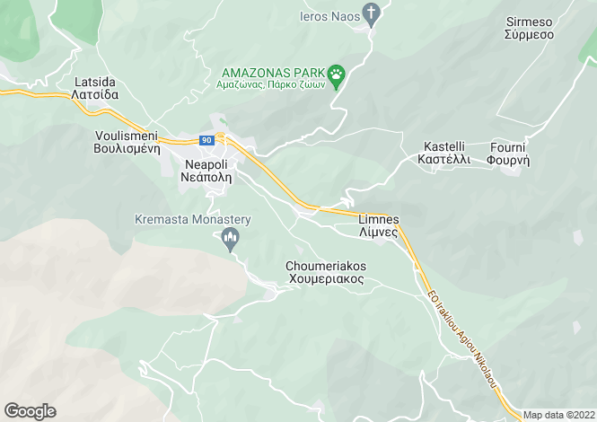 Map for Limnes, Lasithi, Crete