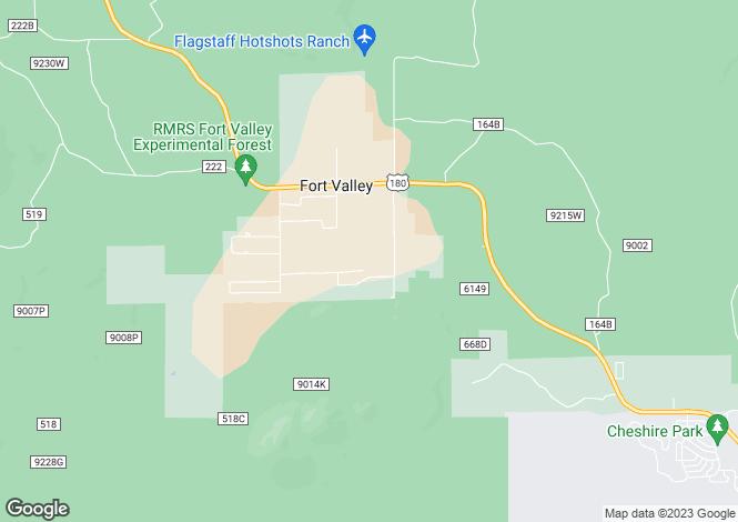 Map for Arizona, Coconino County, Flagstaff