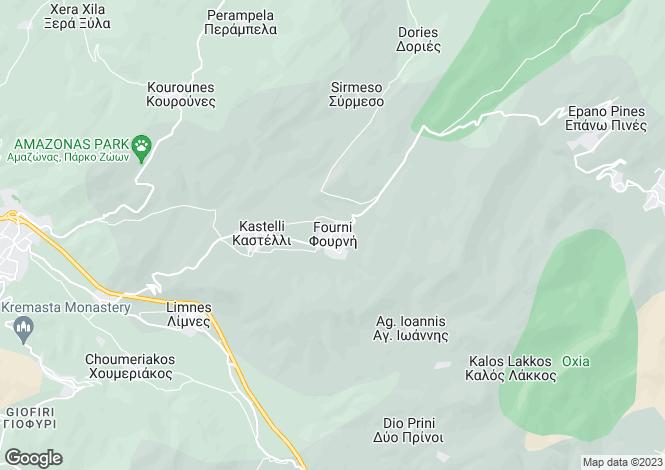 Map for Crete, Lasithi, Fourni