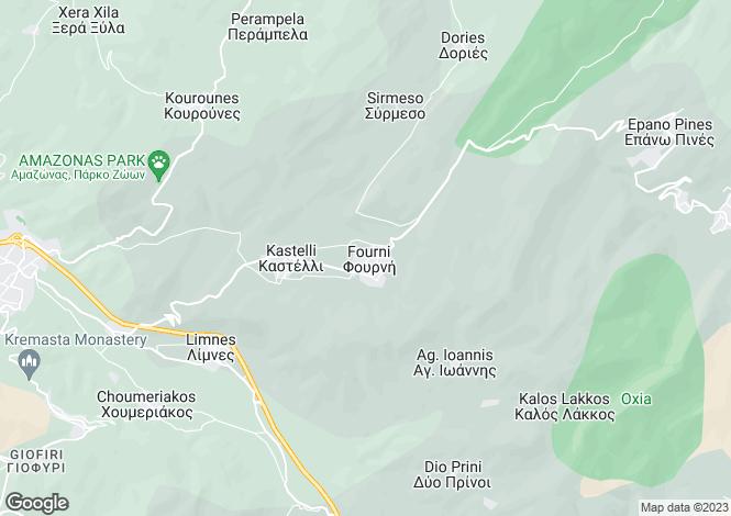 Map for Fourni, Lasithi, Crete