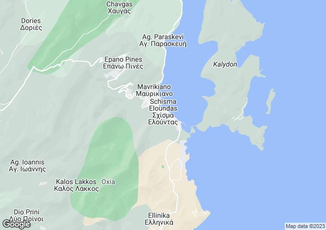 Map for Elounda, Lasithi, Crete