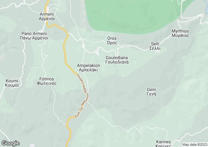 Map for Crete, Rethymnon, Armenoi
