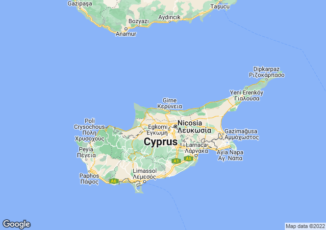 Map for Kyrenia/Girne
