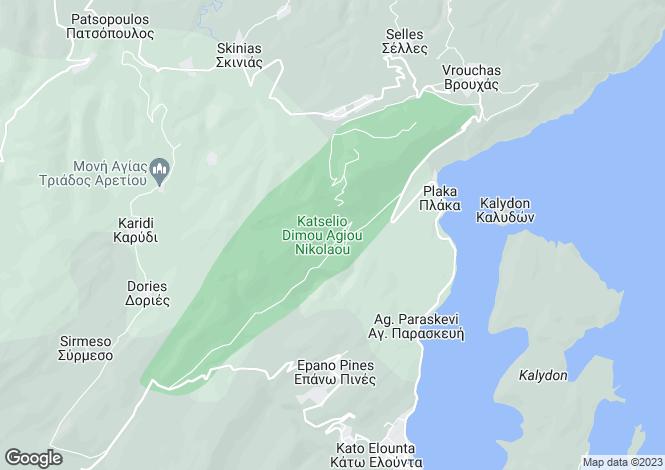 Map for Crete, Lasithi, Plaka