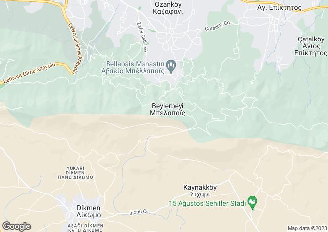 Map for Kyrenia/Girne, Kyrenia