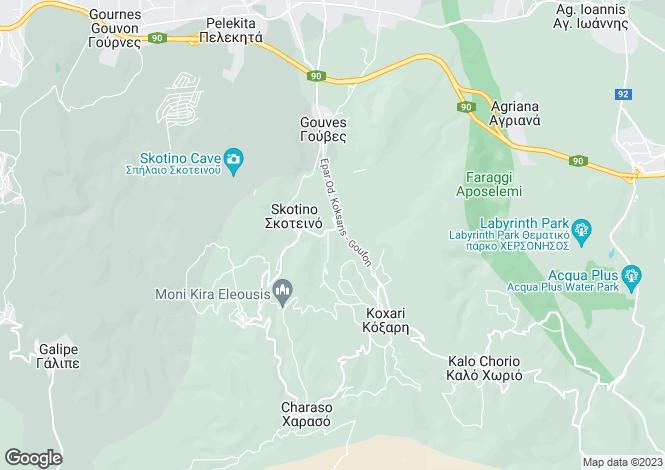 Map for Gouves, Iraklion, Crete