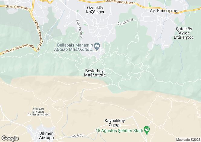 Map for Kyrenia/Girne, Bellapais