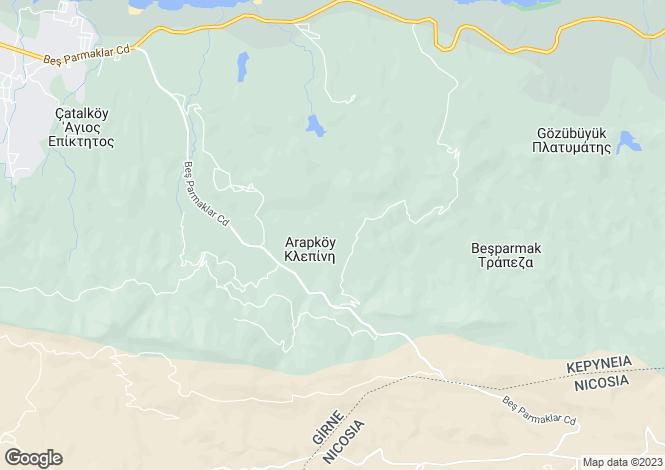 Map for Arapköy, Girne