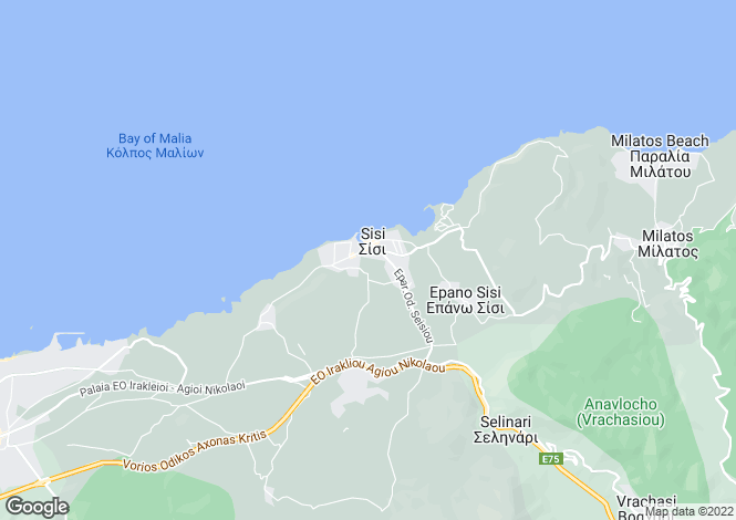 Map for Sissi, Lasithi, Greece
