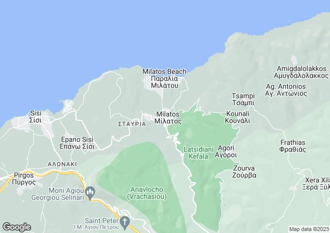 Map for Crete, Lasithi, Milatos