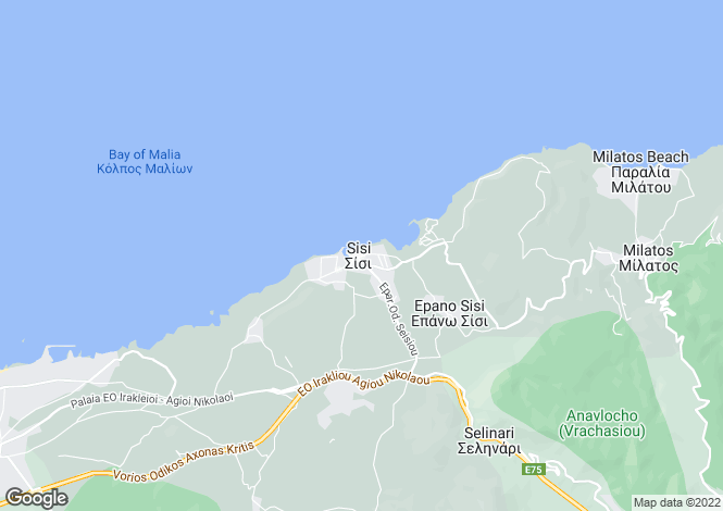 Map for Áyios Nikólaos, Lasithi, Crete