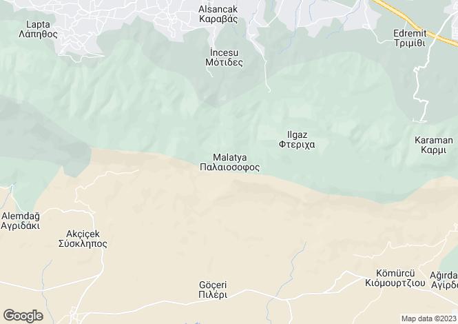 Map for Kyrenia/Girne, Malatya