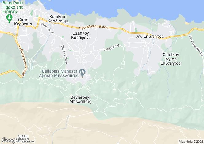 Map for Kyrenia, Cyprus