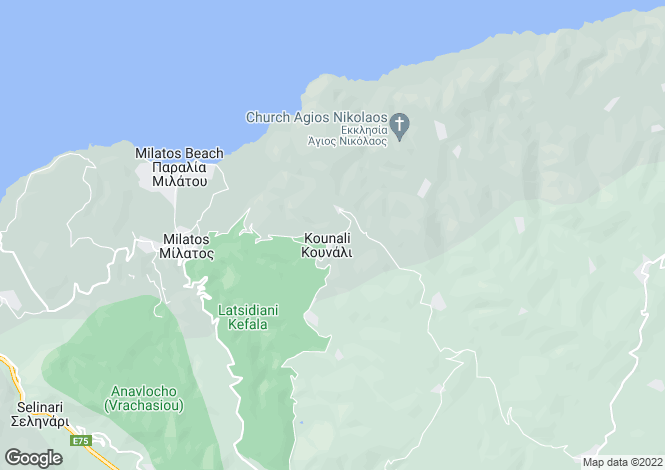 Map for Kounali, Lasithi, Crete