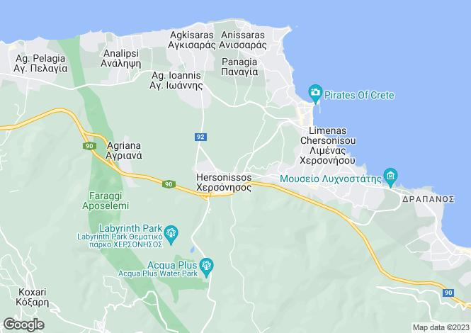 Map for Limin Chersonisou, Iraklion, Crete