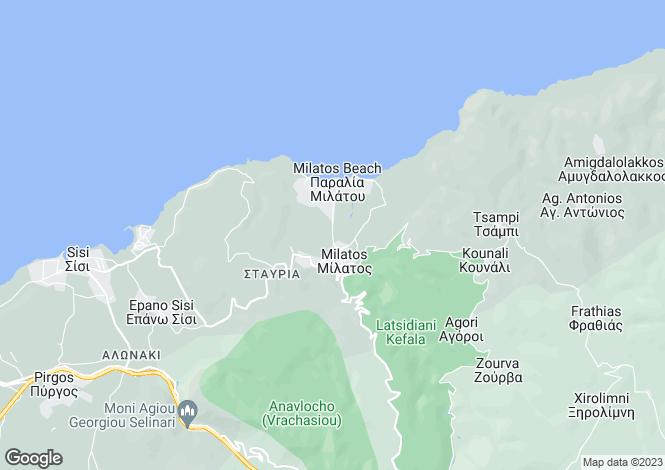 Map for Crete, Lasithi, Sissi