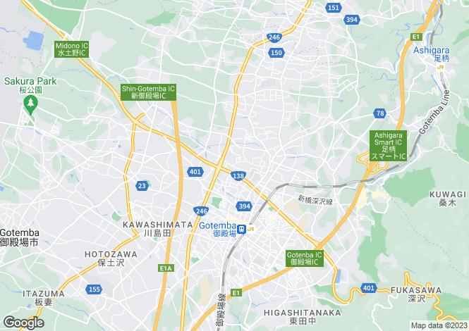 Map for Gifu, Hagiwara