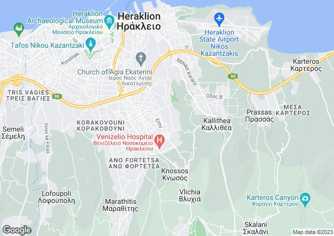 Map for Crete, Heraklion, Nea Alikarnassos
