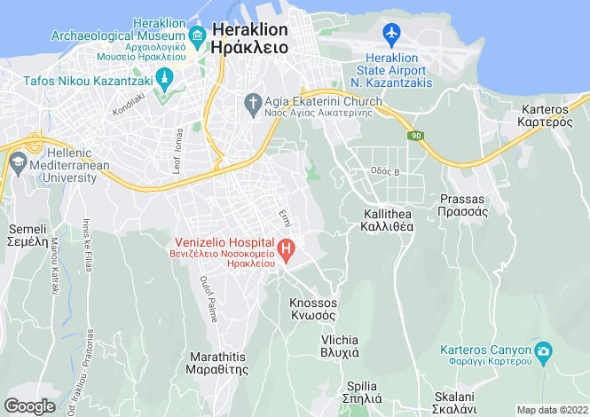 Map for Crete, Heraklion, Nea Alikarnassos