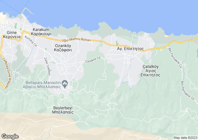 Map for Kyrenia, Bellapais