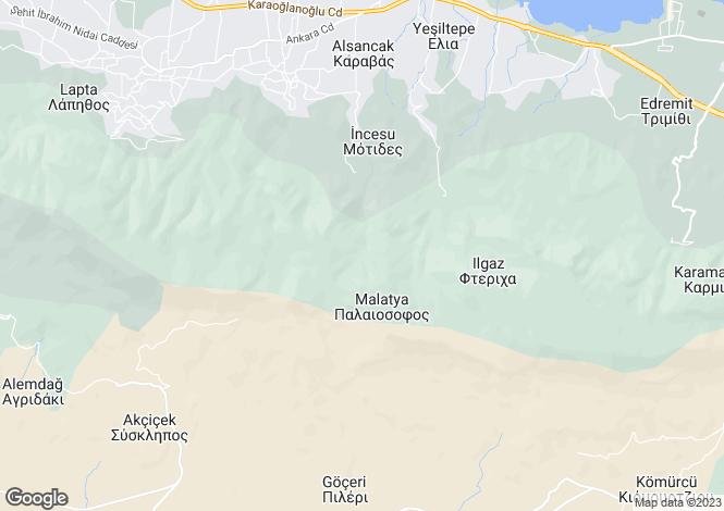 Map for Malatya, Girne