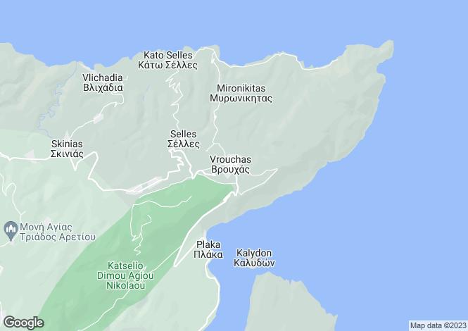 Map for Crete, Lasithi, Vrouchas