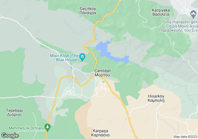 Map for Kyrenia/Girne, Myrtou