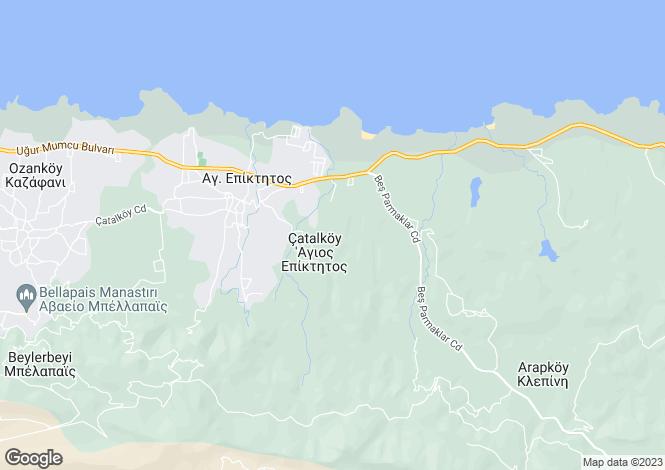 Map for Catalkoy, Girne