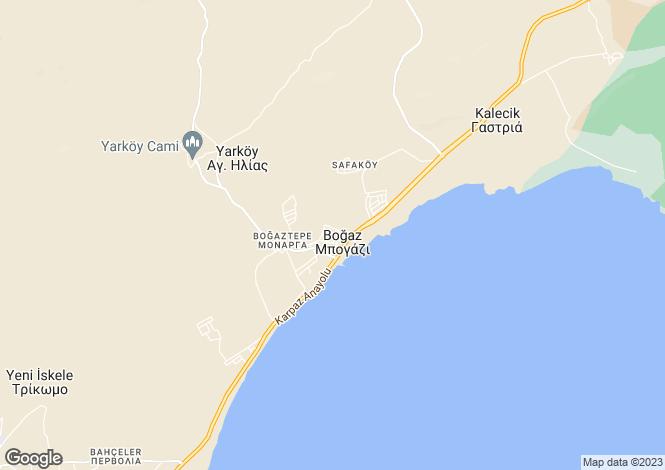 Map for Bogaz, Famagusta