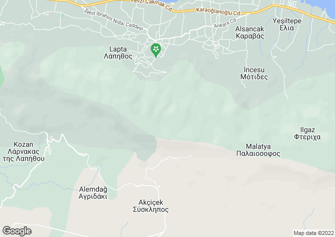Map for Kyrenia/Girne, Baspinar