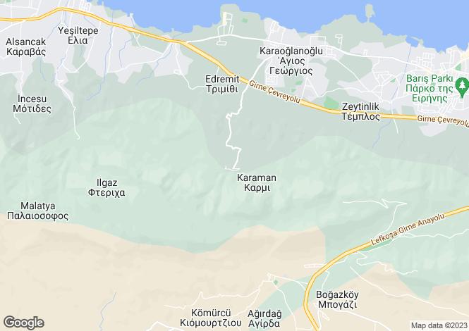Map for Kyrenia/Girne, Edremit