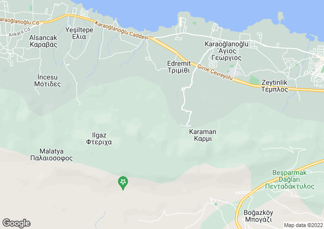 Map for Kyrenia/Girne, Karmi