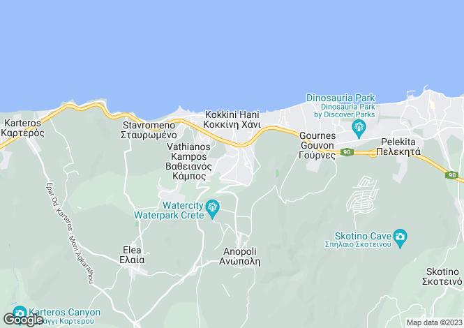 Map for Kokkini Hani, Iraklion, Crete