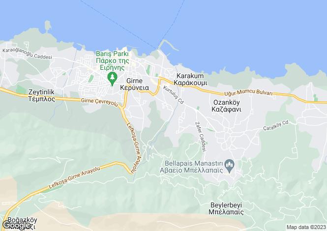 Map for Kyrenia/Girne, Dogankoy