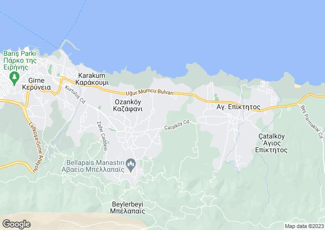 Map for Kyrenia, Ozankoy