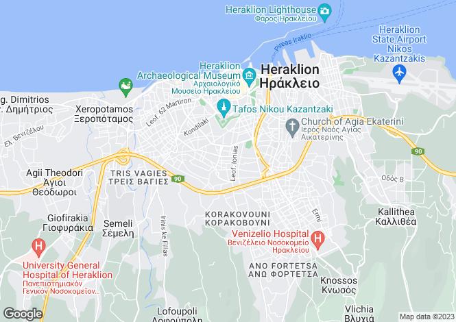 Map for Iraklion, Iraklion, Crete