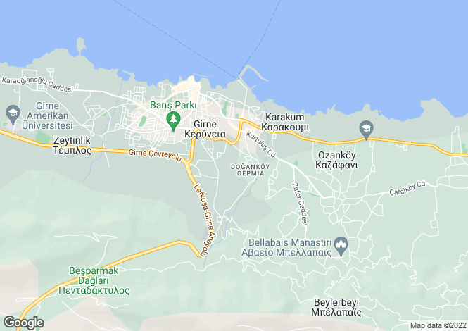 Map for Dogankoy, Girne