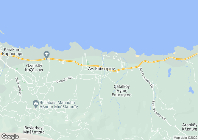 Map for Girne, Catalkoy