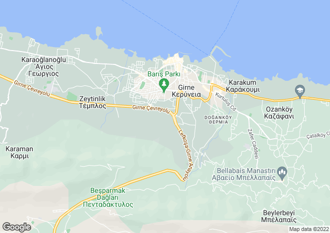 Map for Girne, Girne